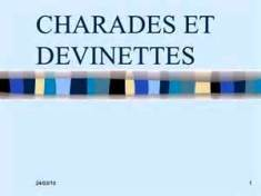Charades et Devinettes