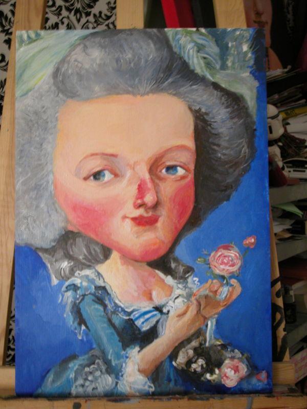 Variations sur le portrait à la rose 39900911