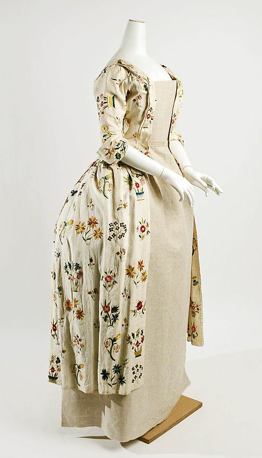 robes XVIIIe: styles, couleurs et matières  Ci66_310
