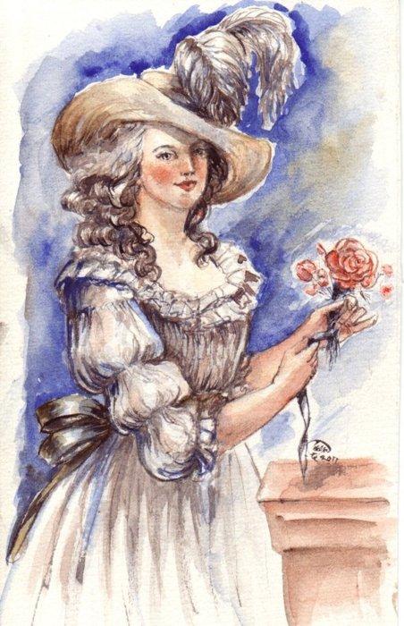 Variations sur le portrait à la rose - Page 3 Magaul10