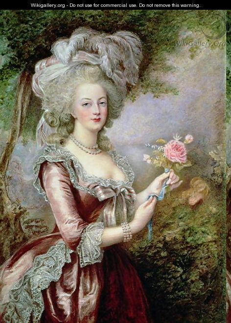 Variations sur le portrait à la rose Painti10
