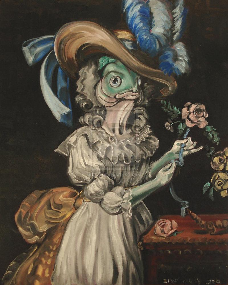 Variations sur le portrait à la rose Queen_10