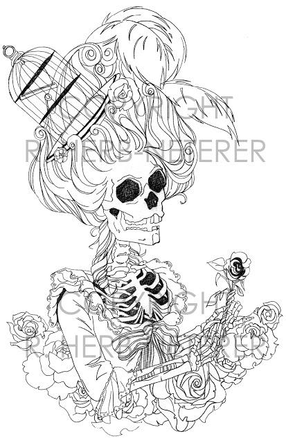 Variations sur le portrait à la rose Skull_10