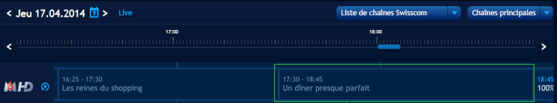 Collecte des erreurs dans l'EPG upc cablecom 20140413