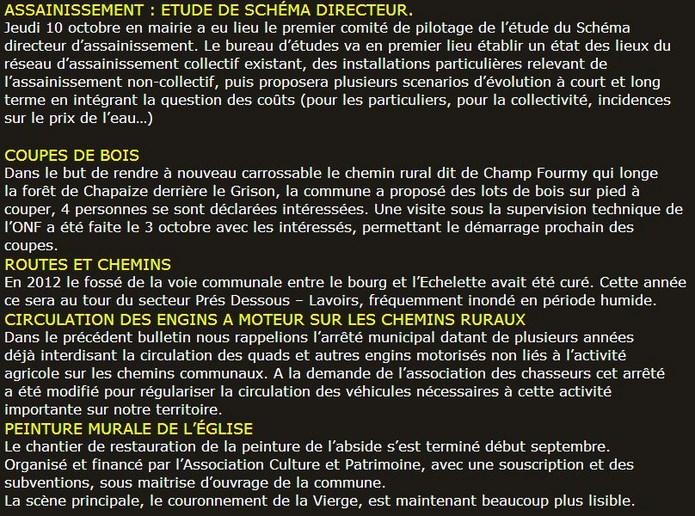 Bulletin d'information municipal de La Chapelle sous Brancion, Octobre 2013 Assen_10