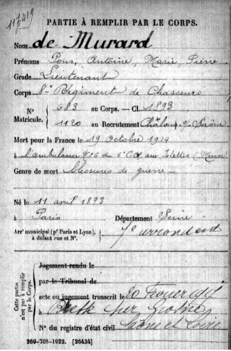 Collecte Préparatoire Centenaire 1914 1918 De_mur10
