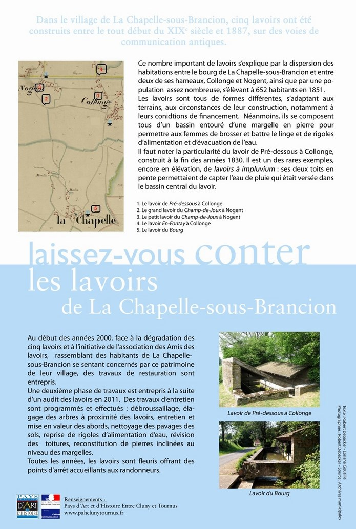 projet d'affiche sur les lavoirs de La Chapelle-sous-Brancion Pannea10