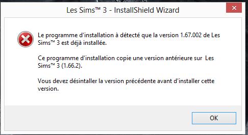 [Fiche] MAJ du jeu de base Les Sims3 par liens externes et Résolutions de 2 problèmes lors de la réimportation des sauvegardes Messag10