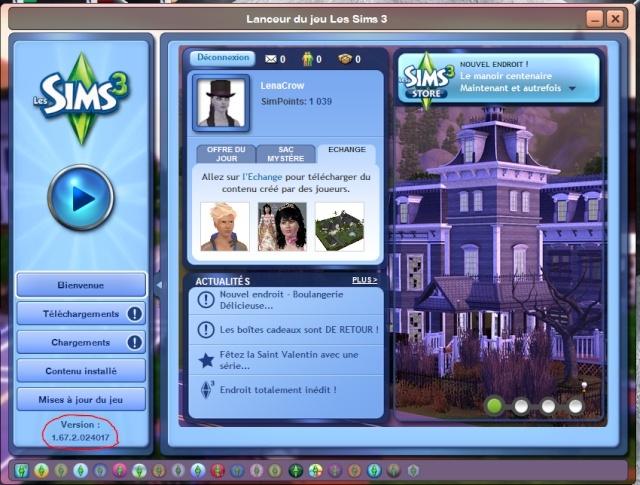 [Fiche] MAJ du jeu de base Les Sims3 par liens externes et Résolutions de 2 problèmes lors de la réimportation des sauvegardes Versio10