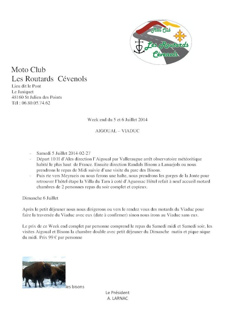 Sortie Mont Aygual - Viaduc de Millau 5 et 6 juillet Progra11