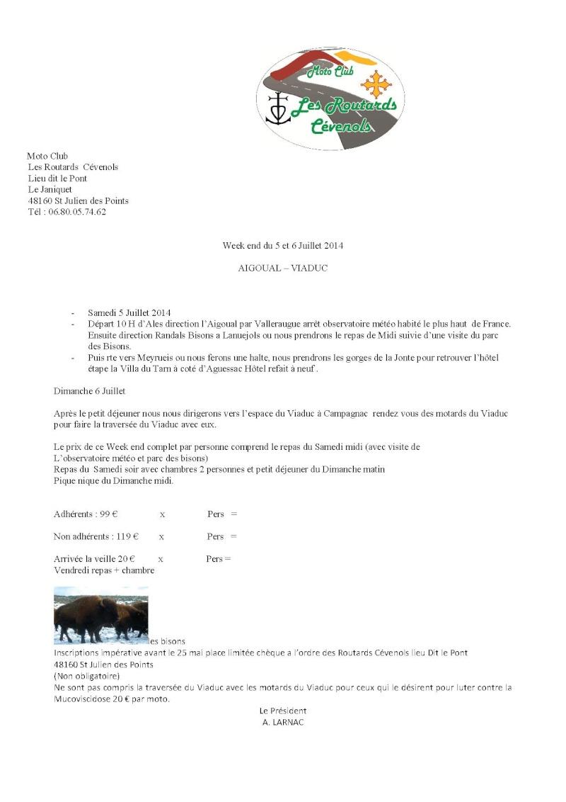 Sortie Mont Aygual - Viaduc de Millau 5 et 6 juillet Progra12