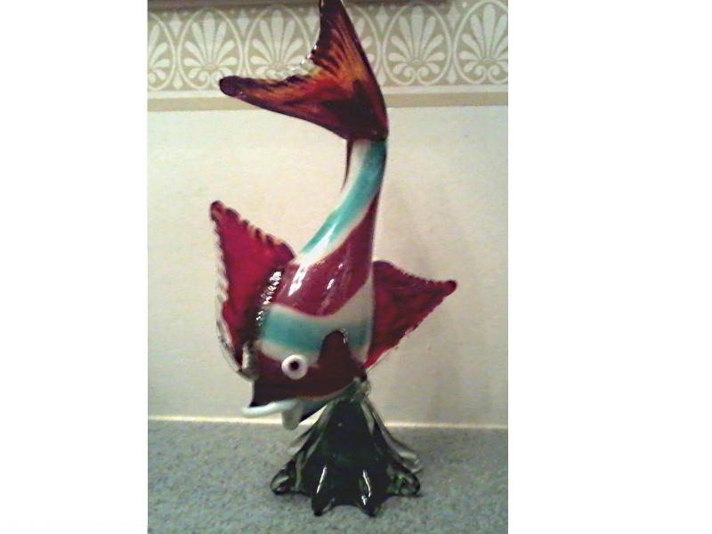Large Art Glass Fish Art_gl10