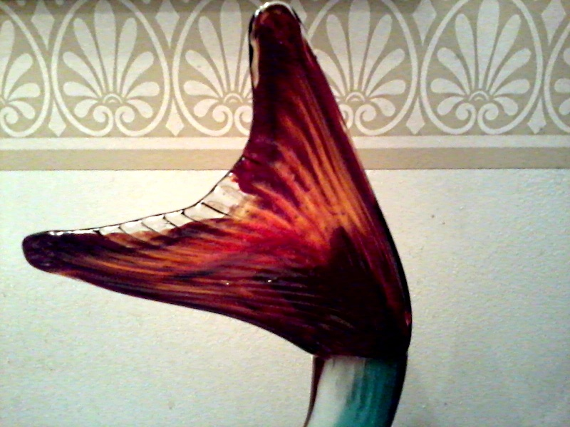 Large Art Glass Fish Art_gl12