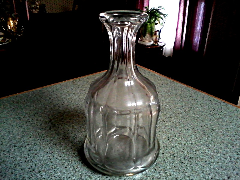 Old Unusual Clear Glass Decanter Clear_11