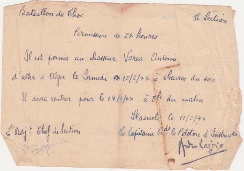 VAREA ANTOINE, bataillon de choc 43-45 00210