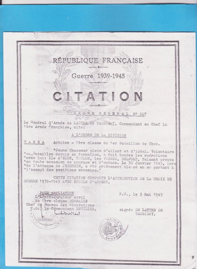 VAREA ANTOINE, bataillon de choc 43-45 Doc2_010