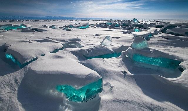 Glace turquoise sur le Baïkal Baikal10
