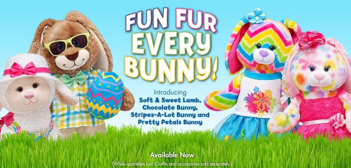 Easter is hopping over to Build a bear Workshop!  314