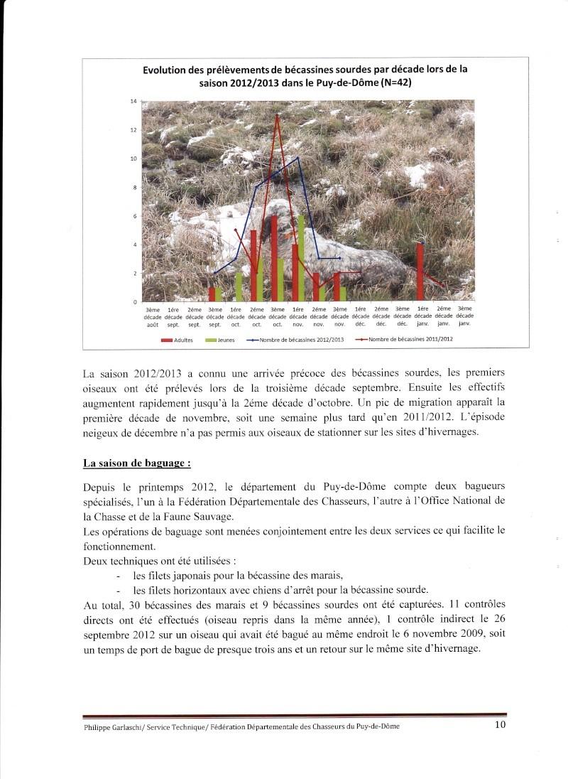 Réseau Bécassines Bilan Saison 2012-2013 Puy de Dôme P1010