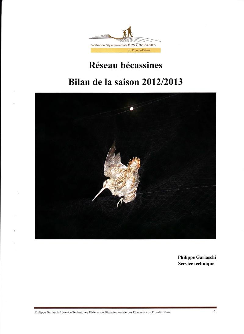 Réseau Bécassines Bilan Saison 2012-2013 Puy de Dôme P110
