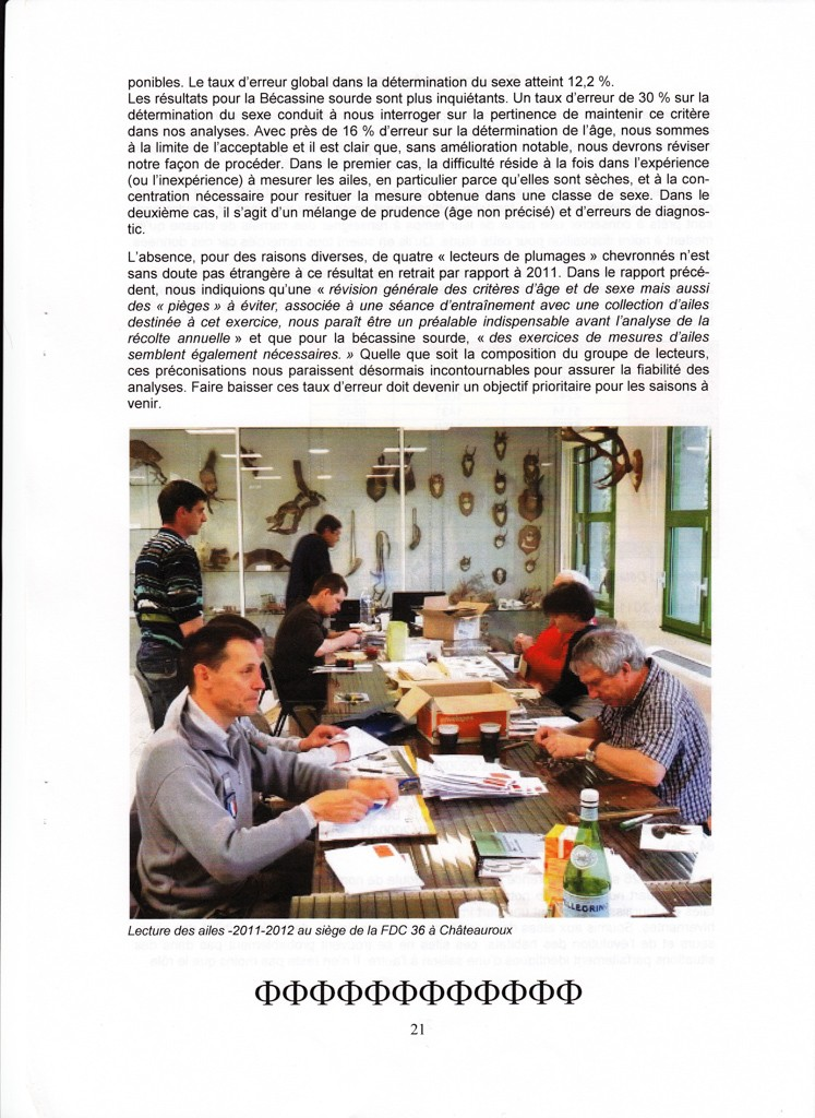 Réseau Bécassines France Bilan Saison 2011-2012 P2110