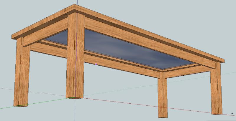 avis sur la fabrication d'une table de salle à manger en bois et verre Tablep10
