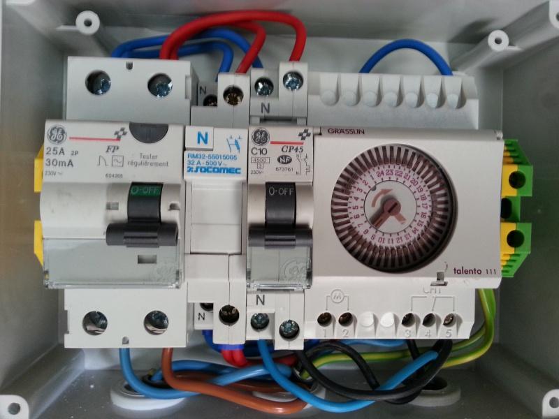 Connexion électrique pompe piscine 20140211