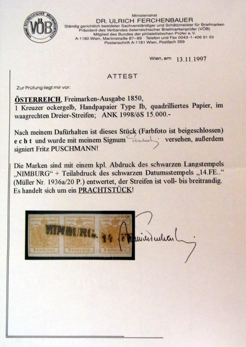 Die erste Österreichische Ausgabe 1850 Ank1-h10