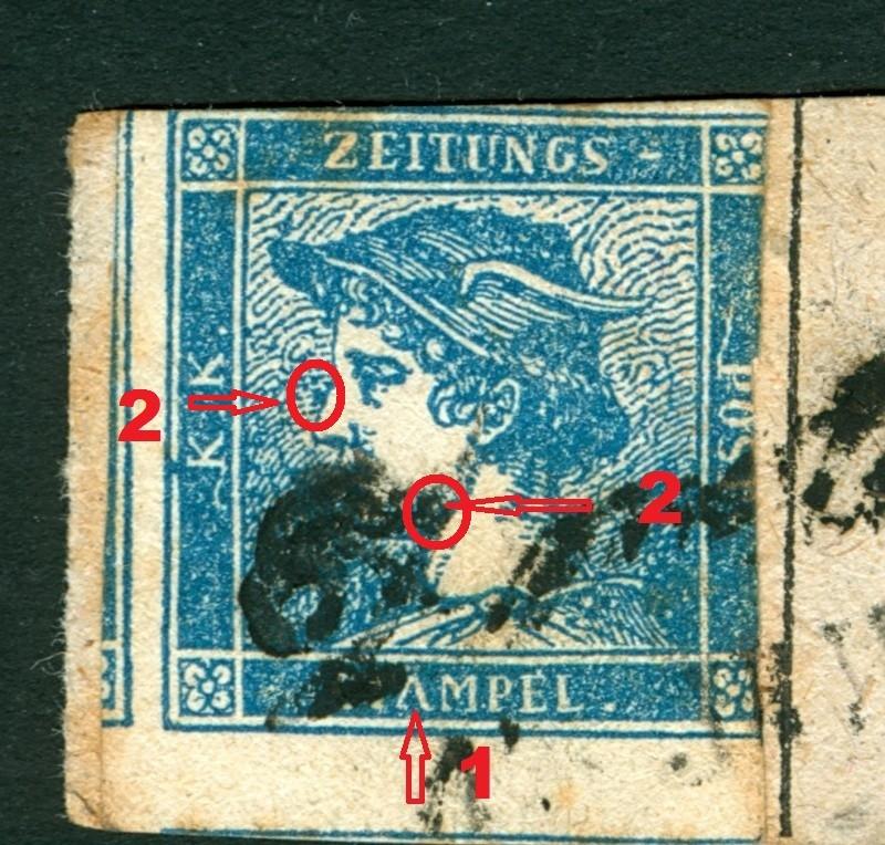 DIE ZEITUNGSMARKEN AUSGABE 1851 Blaue_11
