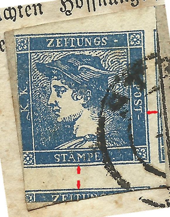 DIE ZEITUNGSMARKEN AUSGABE 1851 Blauer10