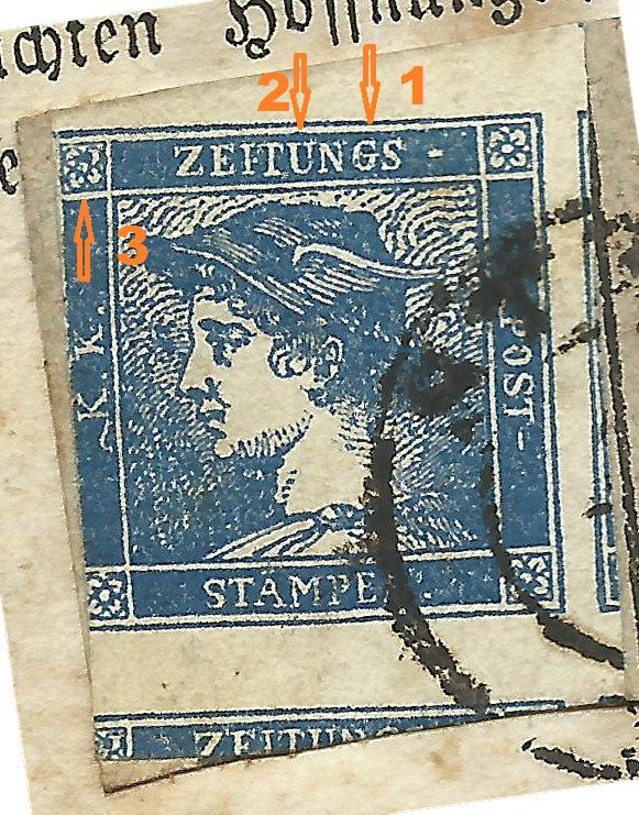 DIE ZEITUNGSMARKEN AUSGABE 1851 Blauer11