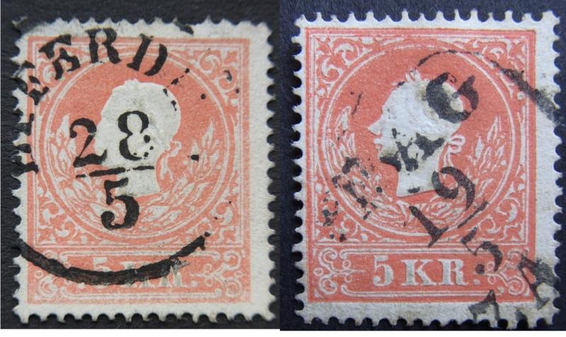 Die Freimarkenausgabe 1858 Type I und II Type_i10