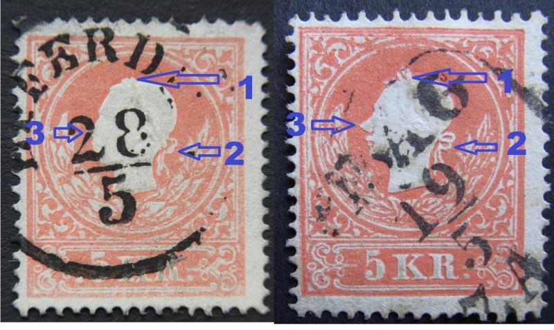 Die Freimarkenausgabe 1858 Type I und II Type_i11