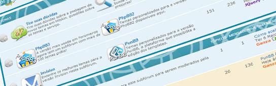 Divisão dos temas, troca da posição do perfil, redes sociais e mais Sub110