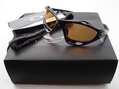 Lunettes Oakley Racing Jacket Jet Black/Gold Iridium Dsc06011