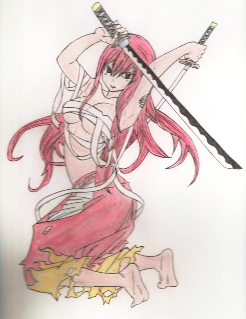 Mes dessins de Fairy Tail Erza_s10