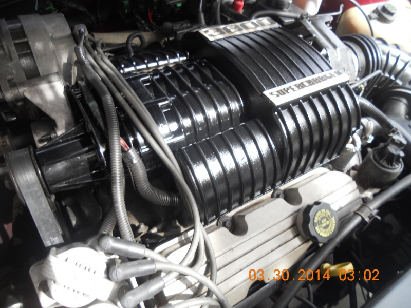 My 95 Riviera and fresh paint on the Supercharger Superc16