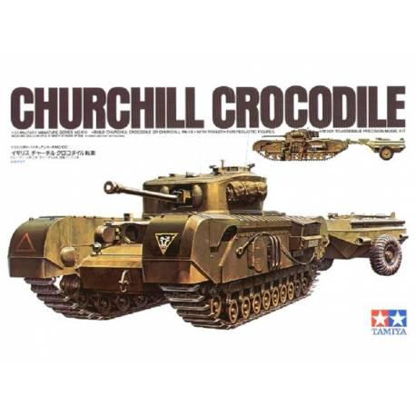 Churchill Crocodile (1/35 de Tamiya) (la fin) plus photo dehors Church10