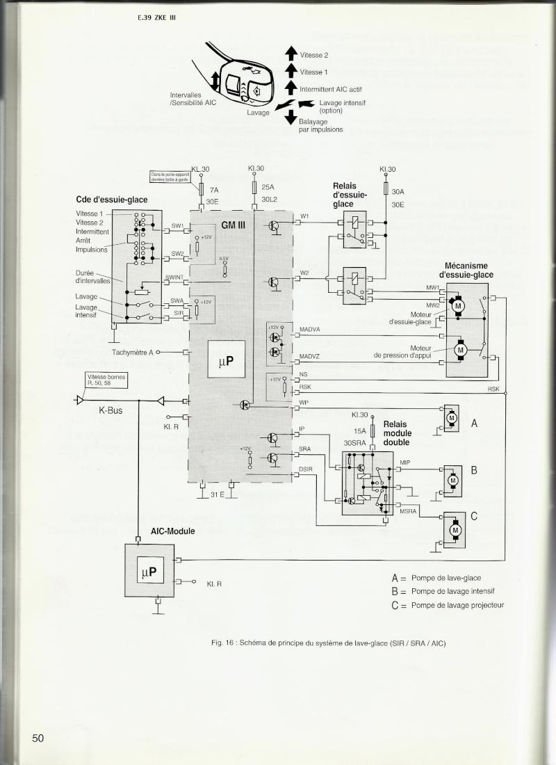 [ BMW E39 525 tds M51 an 1998 ] Panne d essuie glace et lave glace  61_e_310