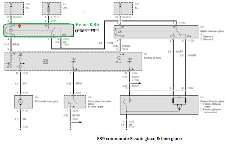 bmw e39 525 tds m51 an 1998 panne d essuie glace et lave glace page 3. Black Bedroom Furniture Sets. Home Design Ideas