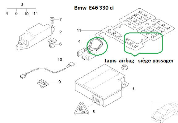 [ BMW E46 330ci an 2003 ] problème airbag 65_e4610