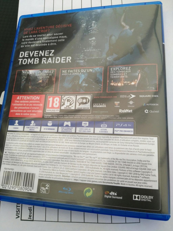 [Vendu] Shadow Of The Tomb Raider ps4 Img_2038