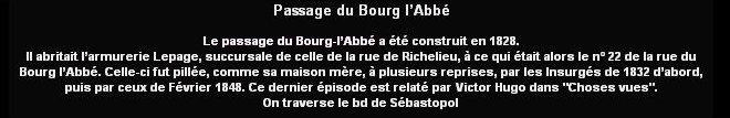 Monsieur PRADIER 1830, 22 rue Bourg l'Abbé Paris Bourg_10