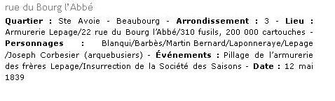 Monsieur PRADIER 1830, 22 rue Bourg l'Abbé Paris Bourg_12