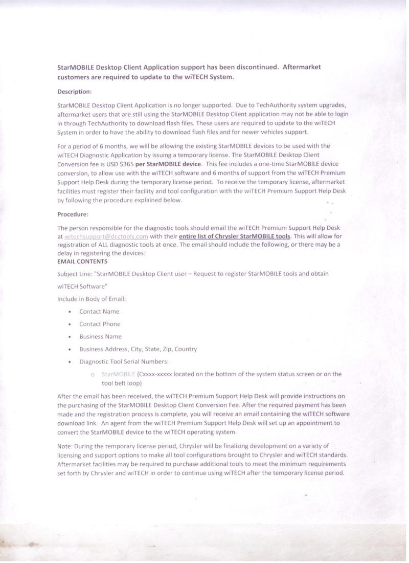 Appareil de diagnostic pour Dodge Dakota 2012 Starmo12