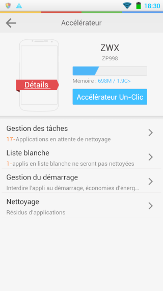 [APPLICATION ANDROID - LBE SECURITY MASTER FR] Gérer les permissions, les applications, la batterie, les pubs, les malwares, les notifications [Gratuit] Topic1 - Page 40 Screen13