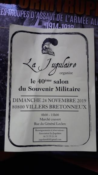 Bourse souvenir militaire villers bretoneux  le 24 novembre  2019 20191010