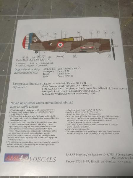 Curtiss Hawk 75 A N° 140 du capitaine Josef Duda Hobby craft 1/48 1120