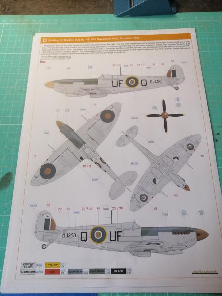 Spitfire MK.IXC late version profipack Eduard 1/48 1516