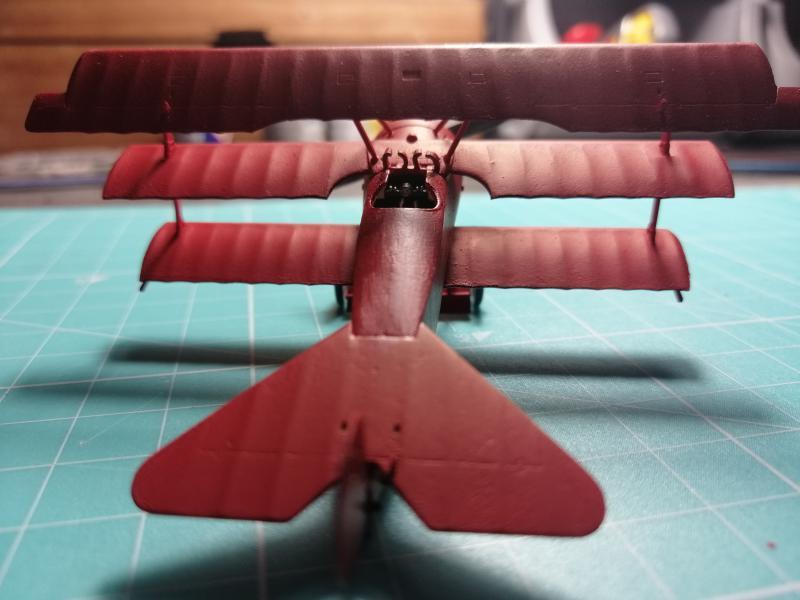 Fokker Dr 1 triplan de Manfred von Richthofen Revell 1/72 FINI !!!!!! 2015